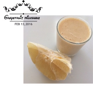 Grapefruit Milkshake