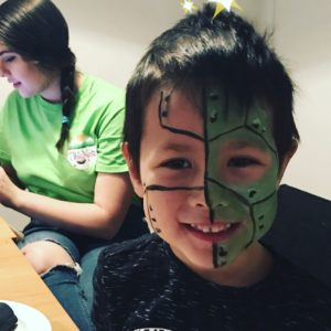 NCT, robot face, facepaint