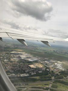 Flight view, Paris view from sky