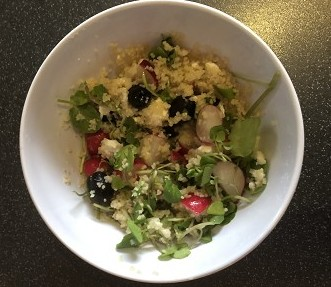 Healthy Couscous Lunch Only Takes 5 Minutes!