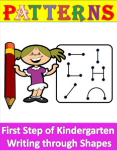 Writing through shapes for under 5s